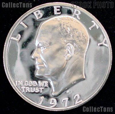 1972-S Ike Eisenhower Silver Dollar - PROOF