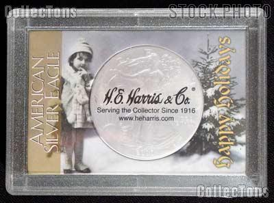 Harris 2x3 Happy Holidays Holder for SILVER EAGLES