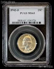 1942-D Washington Quarter in PCGS MS 65