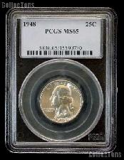 1948 Washington Quarter in PCGS MS 65