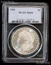 1881 Morgan Silver Dollar in PCGS MS 64