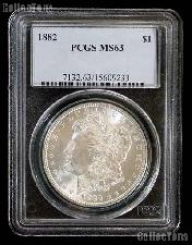 1882 Morgan Silver Dollar in PCGS MS 63
