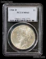 1926-D Peace Silver Dollar in PCGS MS 63