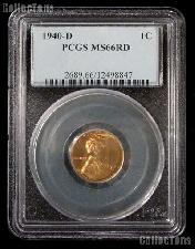 1940-D Lincoln Wheat Cent in PCGS MS 66 Red