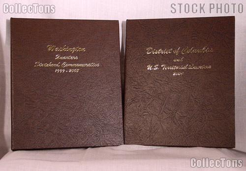 Complete Set of Dansco Albums State, District of Columibia (DC), and Territory Quarters