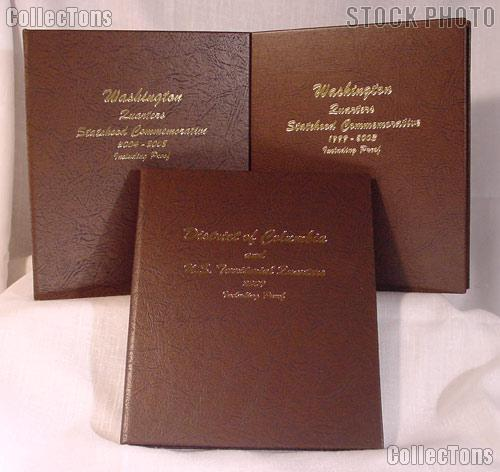 Complete Set of Dansco Albums State, District of Columibia (DC), and Territory Quarters with Proof