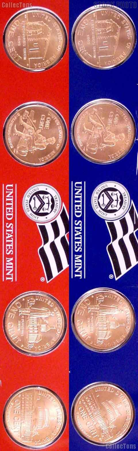 2009 Lincoln Bicentennial Cent Complete Set SATIN FINISH 95% Copper BU