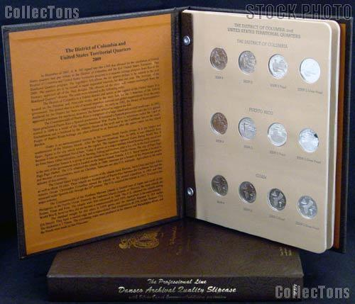 DC & Territory Quarters Set of 2009 DC & US Territory Quarters (Gem BU P & D, Proof, and Silver Proof) w/ Dansco Album & Dansco Slipcase