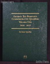 National Parks Quarters Folder by Littleton for America The Beautiful Commemorative P & D Quarters 2010 - 2015 Volume One LCF42