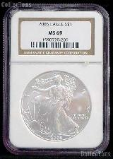 2006 American Silver Eagle Dollar in NGC MS 69