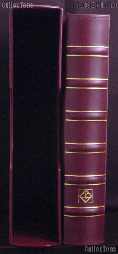 Certified Coin Album Set Lighthouse Classic GRANDE w/ Binder & Slipcase in Burgundy & Certified Coin Pages