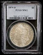 1879-O Morgan Silver Dollar in PCGS MS 62
