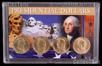 2009 Presidential Dollar Set of BU 2009 Presidential Dollars in Harris Presidential Dollar Holder (4 Coins)