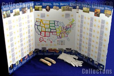 State Quarter Map Complete Set Of P D State Quarters - Us quarter collector map