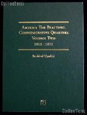 National Park Quarter Folder by Littleton for America The Beautiful Commemorative P & D Quarters 2016 - 2021 Volume Two LCF44