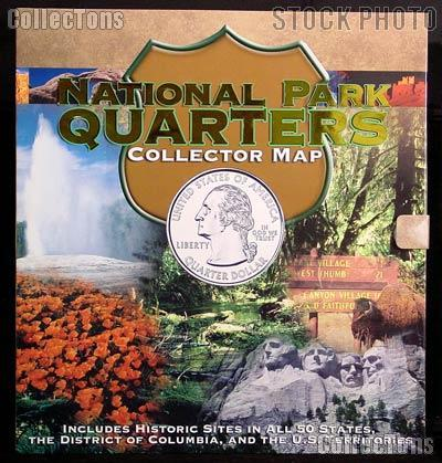National Parks Quarter Map by Whitman for National Park Quarters Program 2010 - 2021