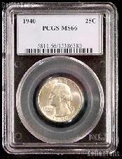 1940 Washington Silver Quarter in PCGS MS 66