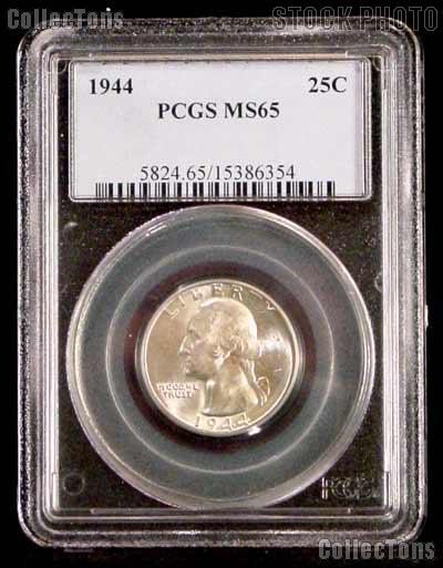 1944 Washington Quarter in PCGS MS 65