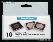 Coin Holder 10 Guilder Cents by Lighthouse (QUADRUM 15) 10 Pack of 15mm 2x2 Plastic Coin Holders