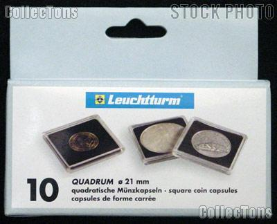 Coin Holder 5 Guilder Cents by Lighthouse (QUADRUM 21) 10 Pack of 21mm 2x2 Plastic Coin Holders