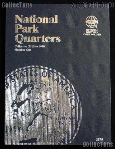 National Parks Coin Folder by Whitman for National Park Quarters Program P & D 2010 - 2015 # 2876