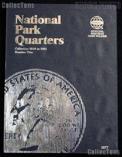 National Parks Coin Folder by Whitman for National Park Quarters Program P & D 2016 - 2021 # 2877