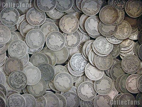 Liberty Head Barber Silver Dimes - Good Condition