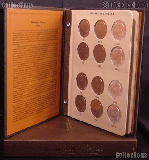 Eisenhower Dollar Set 1971 - 1978 Complete Uncirculated Set including Ike Silver Dollars P, D, S (21 Coins) in Dansco Album # 7176