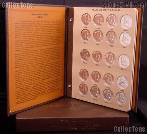 Franklin Half Dollar Set 1948 - 1963 Complete Circulated Set All Mints P,D,S  (35 Coins) in Dansco Album # 7165