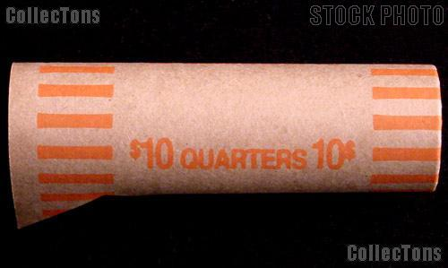 Preformed Coin Wrappers for 40 QUARTERS $10 Box of 1,000