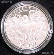 2007-P Proof Jamestown Commemorative Silver Dollars