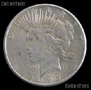 1922 S Peace Silver Dollar Circulated Coin VG-8 or Better