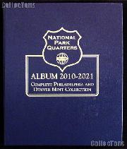 National Park Coins Album by Whitman P & D 2010 - 2021 #3057