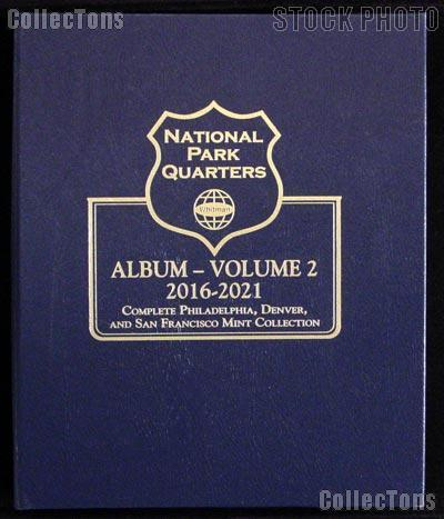 National Parks Quarters Date Set 2010-2021 Whitman Coin Album 3056 Free US Post