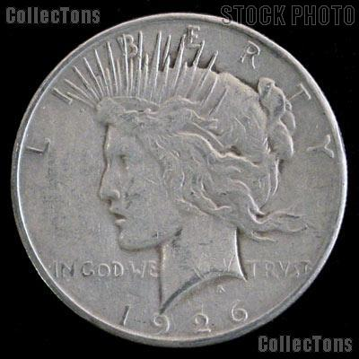 1926 D Peace Silver Dollar Circulated Coin VG-8 or Better