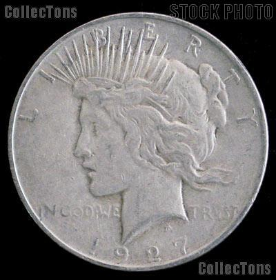 1927 Peace Silver Dollar Circulated Coin VG-8 or Better