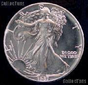 1987 BU American Silver Eagle Dollars
