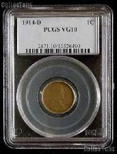 1914-D Key Date Lincoln Wheat Cent in PCGS VG 10