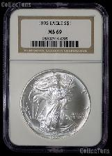 1995 American Silver Eagle Dollar in NGC MS 69