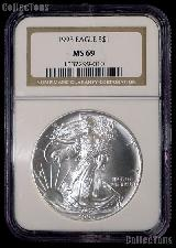 1993 American Silver Eagle Dollar in NGC MS 69