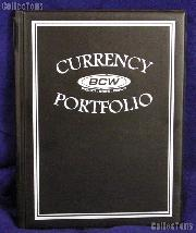 Currency Portfolio Black by BCW Small, Medium, Modern, Large Currency Album
