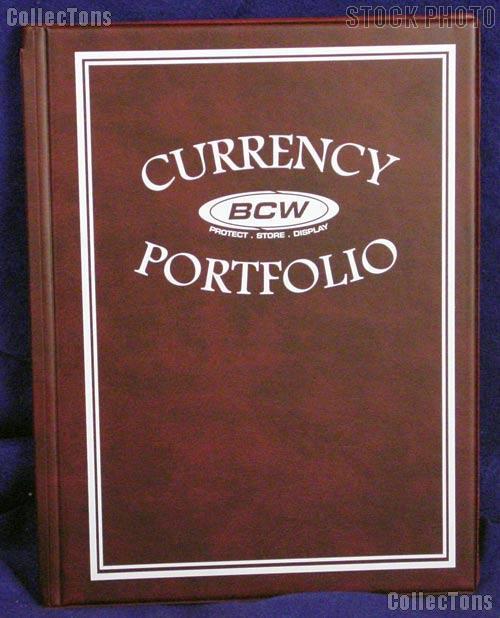 Currency Portfolio Burgundy by BCW Small, Medium, Modern, Large Currency Album