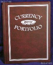 Currency Portfolio Burgundy by BCW Small, Medium, Modern, Large Currency Album