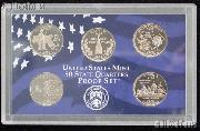 2000 Washington State Quarter Proof Set - 5 Coins