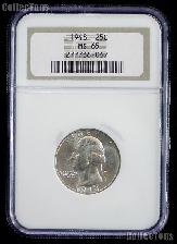 1948 Washington Silver Quarter in NGC MS 65