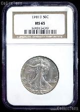 1941-D Walking Liberty Silver Half Dollar in NGC MS 65