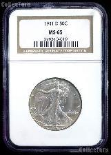 1941-D Walking Liberty Silver Half Dollar in NGC MS 65