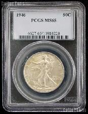 1946 Walking Liberty Silver Half Dollar in PCGS MS 65
