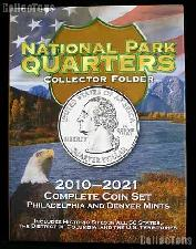 America The Beautiful Quarter Folder by Whitman Deluxe Color Coin Folder P & D 2010-2021