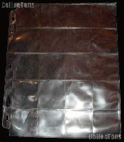 Coin Page 20-Pocket by BCW Pro 20-Pocket Archival Coin Page for 2x2 Holders